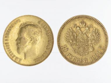 Russland 10 Rubel Nikolaus II,  1900