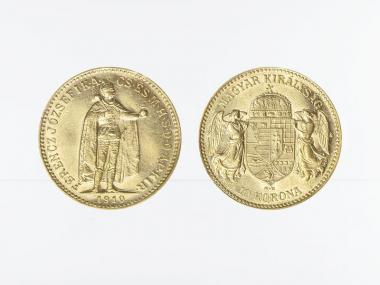 Ungarn 10 Korona Joseph I. 1910