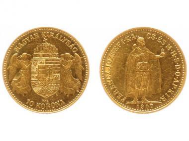 Ungarn 10 Korona Joseph I. 1907