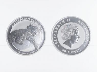 Australien 1/2 $ Koala 2012, 1/2 Unze  Silber