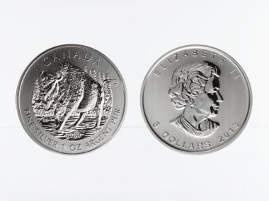 Kanada 5$  Wildlife Bison ,  1 oz  2013