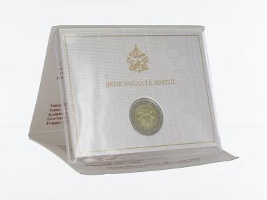 Vatikan 2 Euro Münze, 2013, Sede Vacante im Folder