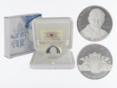 Vatikan 5 € Seligsprechung 2011 PP, Silber