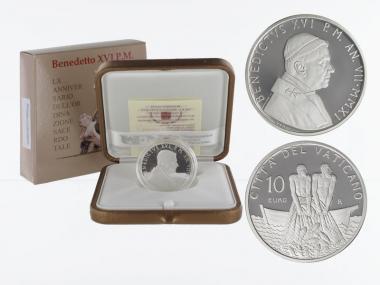 Vatikan 10 € Priesterjubiläum 2011 PP, Silber