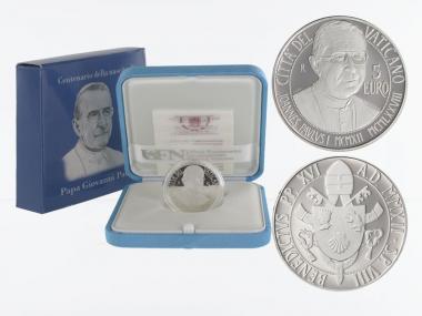 Vatikan 5 € 100. Geburtsjahr 2012 PP, Silber