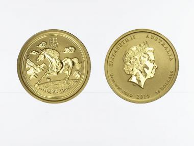 Australien 25$ Lunar II  Pferd, 1/4 Unze  2014