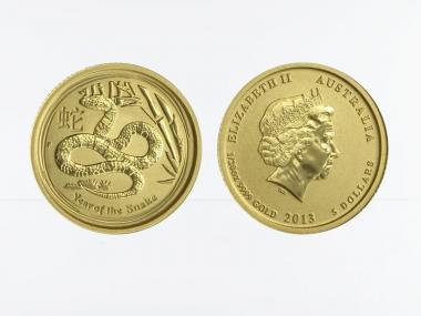 Australien 5$ Lunar II  Schlange, 1/20 Unze  2013