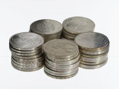 BRD 5 DM Gedenkmünzen 1966-78 (50)