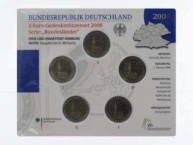 2008 Michaeliskirche (5) A D F G J kpl. Stgl., Blister