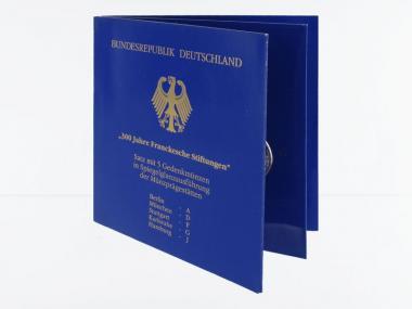 Franckesche Stiftungen (5) A D F G J kpl. PP, Blister