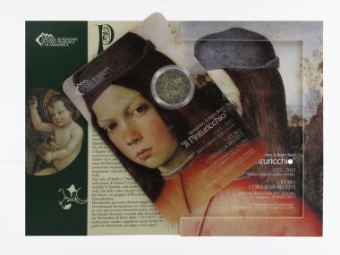 San Marino 2 Euro Münze, 2013, Pinturicchio Folder