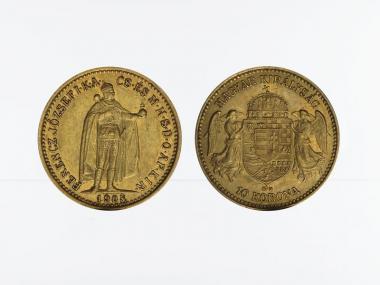 Ungarn 10 Korona Joseph I. 1908