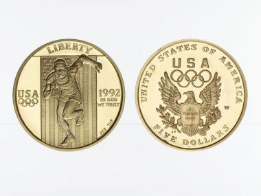 USA 5 $  Gold, Olympia 1992 (W), PP