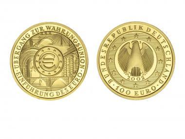 BRD 200 Euro Gold, 2002 G , Währungsunion
