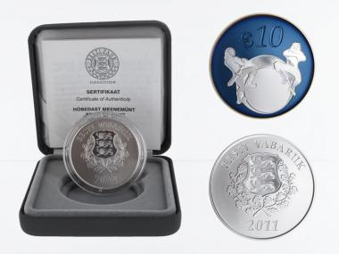 Estland 10 €  Estlands Zukunft 2011 PP, Silber