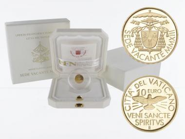 Vatikan 10 € Gold, 2013, Sede Vacante