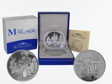 Frankreich 1,5 €  Montmartre  2002 PP, Silber