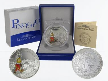 Frankreich 1,5 €  Pinocchio 2002 PP, Silber
