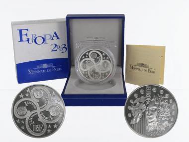 Frankreich 1,5 €  Europa 2003 PP, Silber