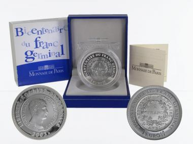 Frankreich 1,5 €  Le Franc Germinal 2003 PP, Silber