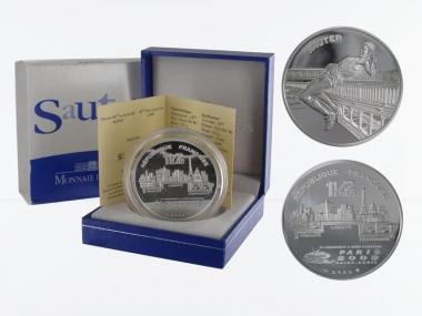 Frankreich 1,5 €  Springen 2003 PP, Silber