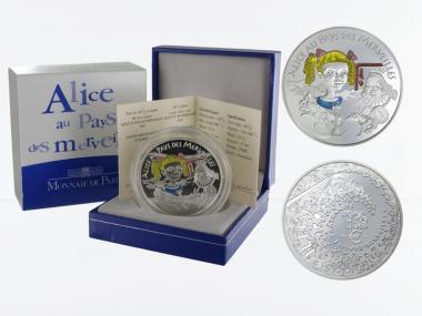 Frankreich 1,5 €  Alice im Wunderland 2003 PP, Silber