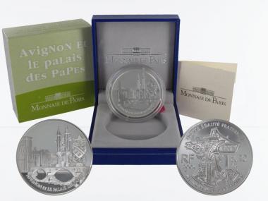 Frankreich 1,5 €  Papstpalast Avignon 2004 PP, Silber