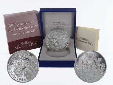 Frankreich 1,5 €  D-Day 2004 PP, Silber