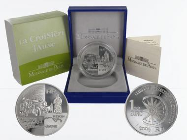 Frankreich 1,5 €  Beirut-Peking Fahrzeug 2004 PP, Silber