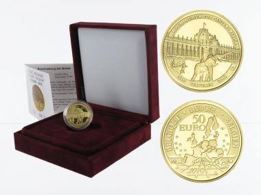 Belgien 50 Euro Gold, Museum Afrika 2010, original