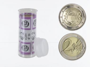 Belgien 2 € Römische Verträge, 2007 Stgl. (25x) Sichtrolle