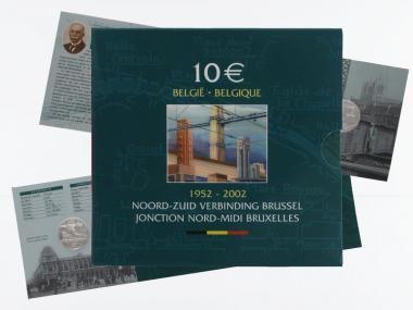 Belgien 10 € Nord-Süd-Verbindung PP, Klappfolder