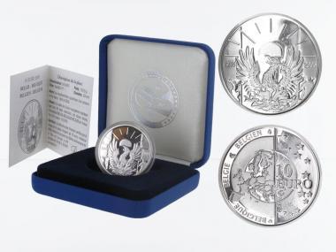 Belgien 10 €  60 Jahre Ende II. Wk. 2005 PP, Silber