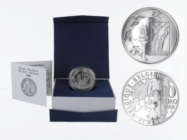 Belgien 10 €  Olympische Spiele 2008 PP, Silber