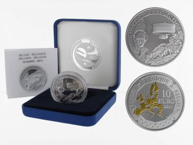 Belgien 10 €  Tiefsee U-Boot 2010 PP, Silber