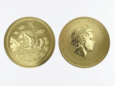 Australien 100 $ Lunar II  Pferd, 1 Unze  2014