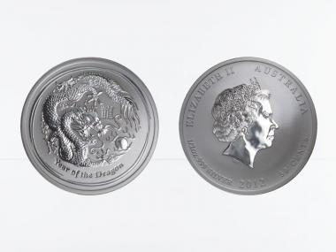Australien 1/2$ Drache II  2012, 1/2 oz  Silber