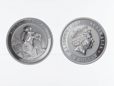 Australien 1$ Kookaburra 2013, 1 oz  Silber