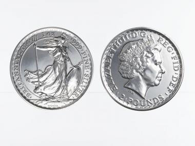 GB 2 Pfd. Silber Britannia 2014, 1 oz