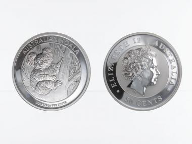 Australien 1/2 $ Koala 2013, 1/2 Unze  Silber