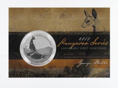 Australien 1$ Känguru 2013 Blister, 1 oz  Silber