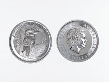 Australien 1$ Kookaburra 2014, 1 oz  Silber