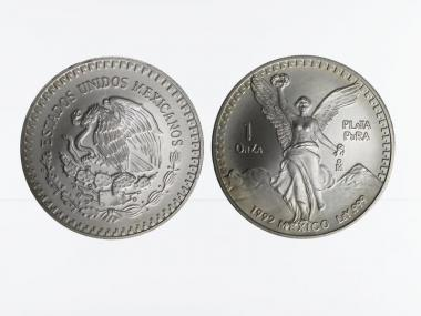 Mexiko Libertad, 1992, 1 OnZa Silber
