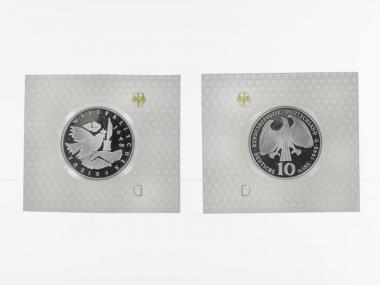 Westfälischer Friede 10 DM Silber, PP