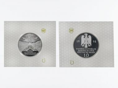 Franckesche Stiftungen 10 DM Silber, PP