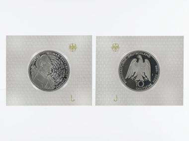 Weimar Kulturstadt 10 DM Silber, PP