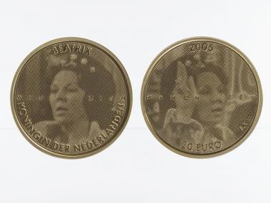Niederlande 20 Euro Gold, 2005, 25 Jahre Beatrix,