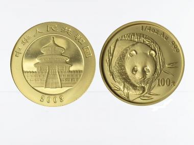China 100 Yu  Panda 2003, 1/4 Unze Feingold