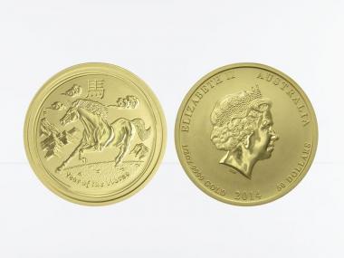 Australien 50 $ Lunar II Pferd, 1/2 Unze 2014