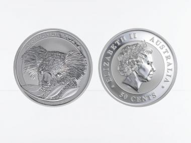 Australien 1/2 $ Koala 2014, 1/2 Unze  Silber